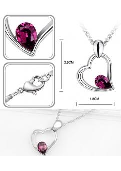 Set EXPENSIVE HEART purple cu cristale swarovski1
