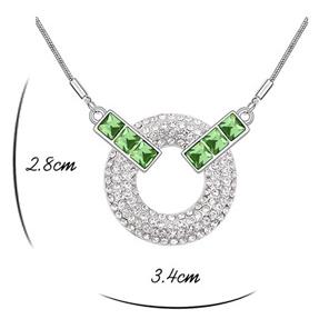 Set MOONLIGHT SQUARE SHINE verde cu cristale [1]