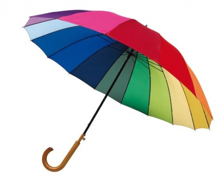 Umbrela Rainbow Sky, mare, curcubeu, Ø120 cm0