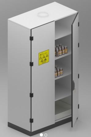 Dulap pentru reactivi chimici solizi/slab concentrati_2U 0