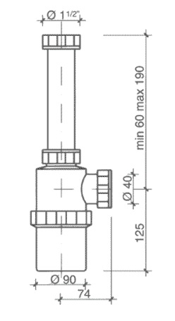 Sifon antiacid pentru Laborator_PP 1