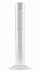 Cilindru gradat sticla borosilicat 3.3, clasa A, picior hexagonal, 2 buc/set 0