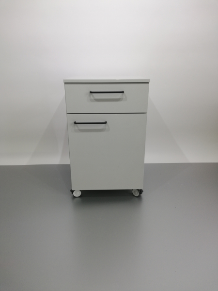 Corp mobil under-bench de depozitare, cu un sertar si o usa - 600 mm 1