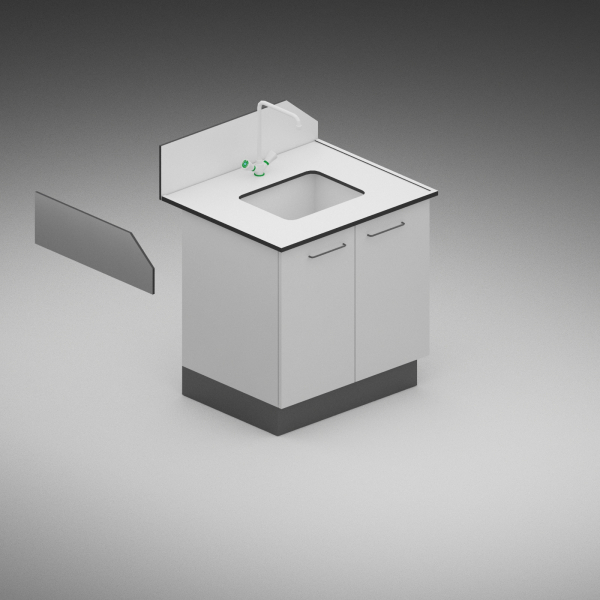 Modul sanitar simplu - dimensiuni 1200/750/900 mm 3