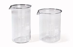 Pahar Berzelius, sticla borosilicat 3.3, autoclavabil, forma joasa, cu cioc, gradat,10 buc/set 0