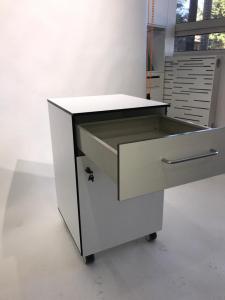 Corp mobil under-bench de depozitare, cu un sertar si o usa - 500 mm (HPL) [2]