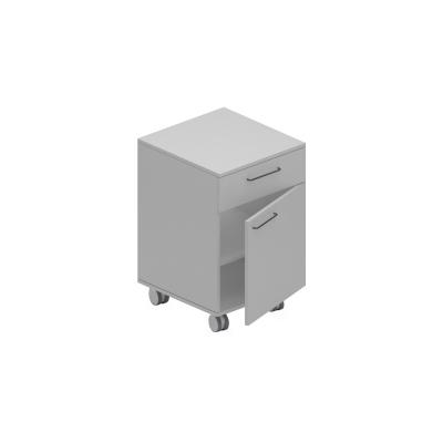 Corp mobil under-bench de depozitare, cu un sertar si o usa - 500 mm (HPL) [0]
