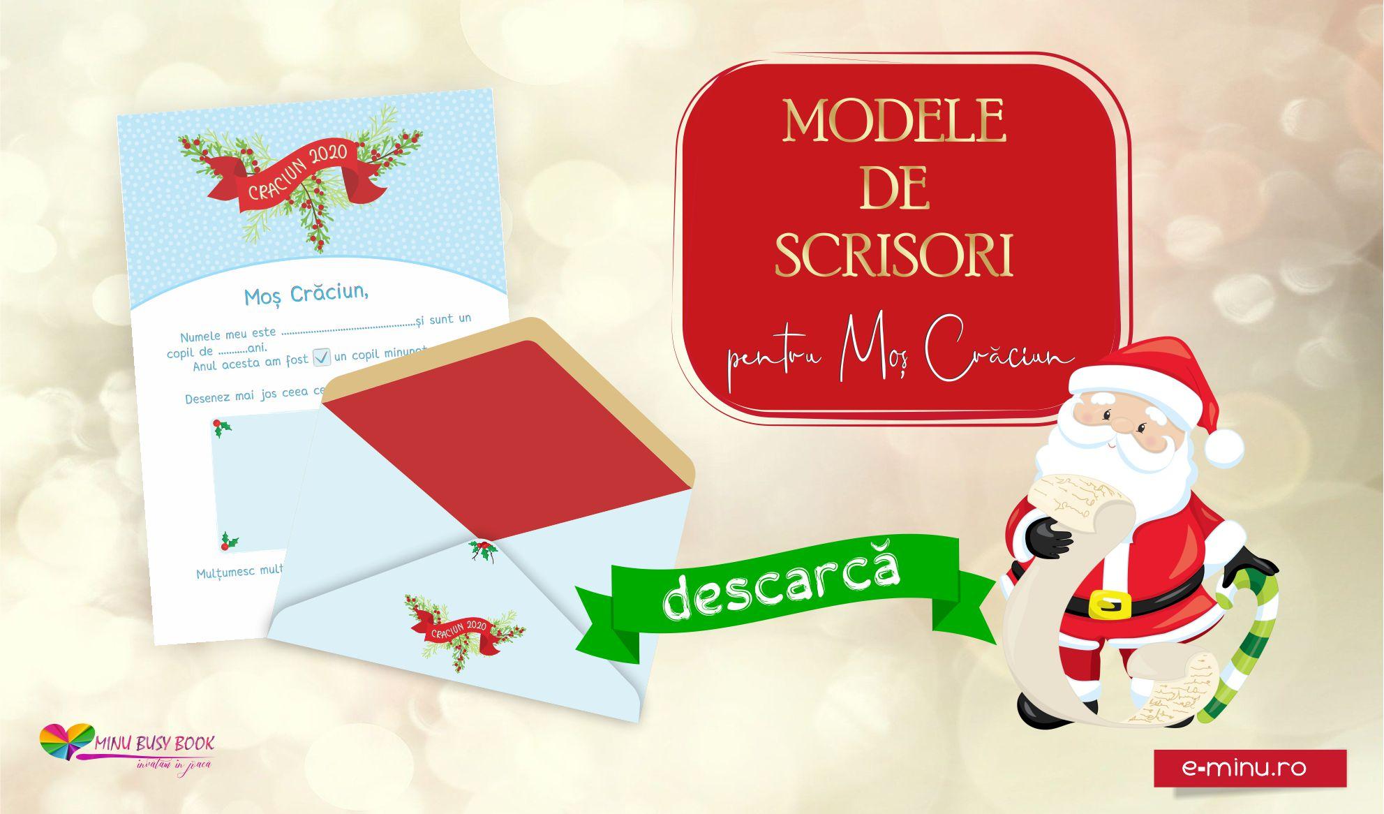 Modele de scrisori pentru Mos Craciun