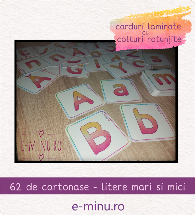 Carduri - litere mari-litere mici [0]