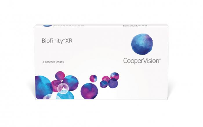 CooperVision Biofinity XR (3 lentile) lentilă lunară pentru corecția miopiei și hipermetropiei | EbaOptics.ro 0