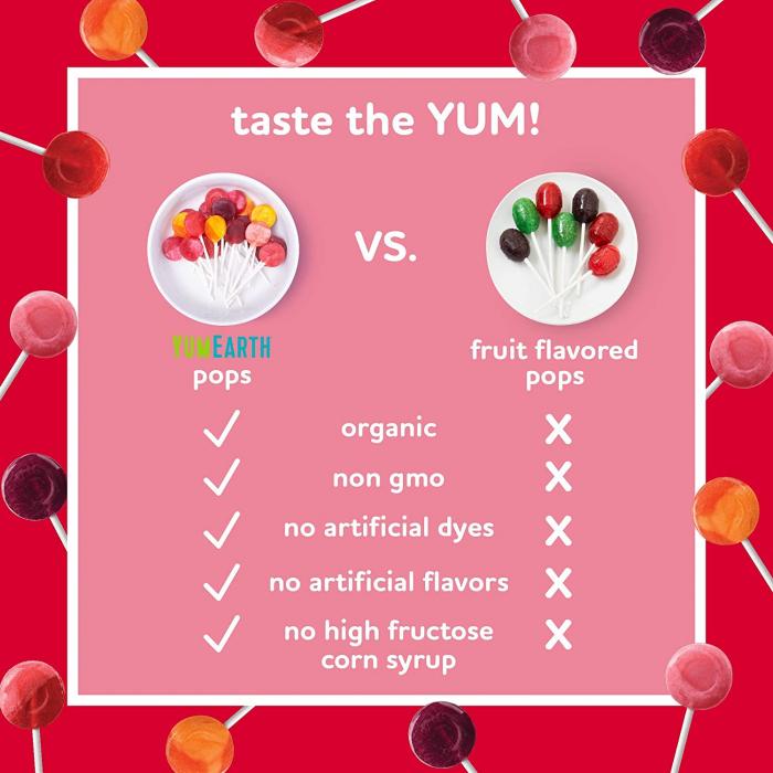 Acadele organice Fara Gluten, asortate YumEarth 100buc [2]