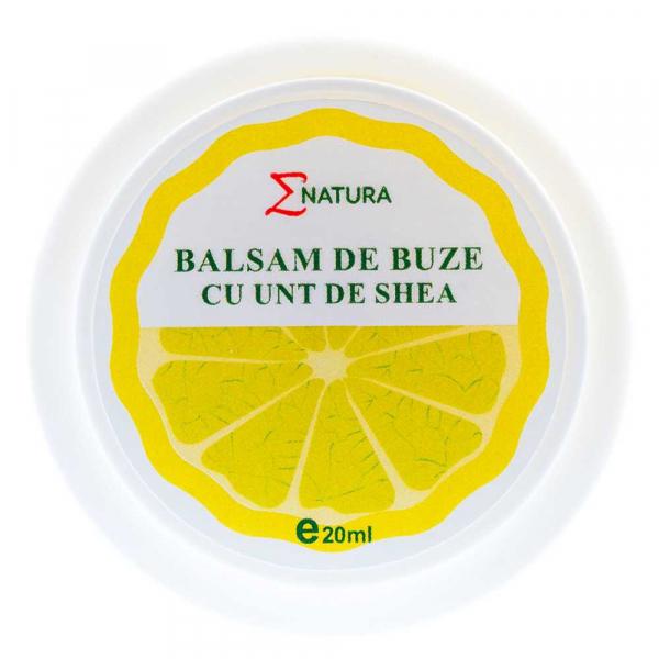 Balsam pentru buze cu Unt de Shea aroma lamaie 20ml -ENATURA [0]