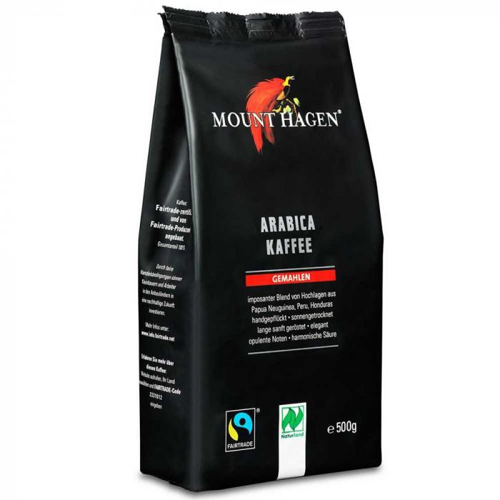 Cafea Bio Arabica prajita si macinata Mount Hagen, 500gr [0]