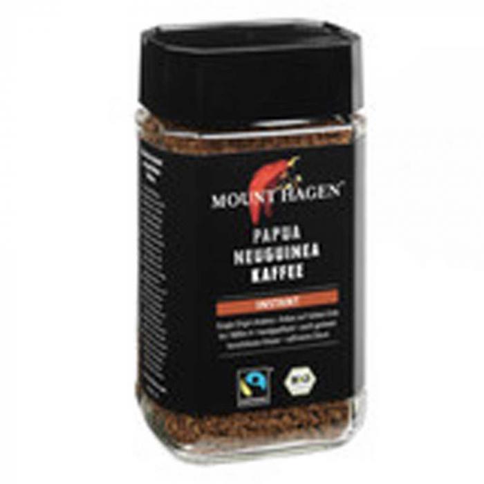 Cafea Bio Instant Mount Hagen, 100g [0]