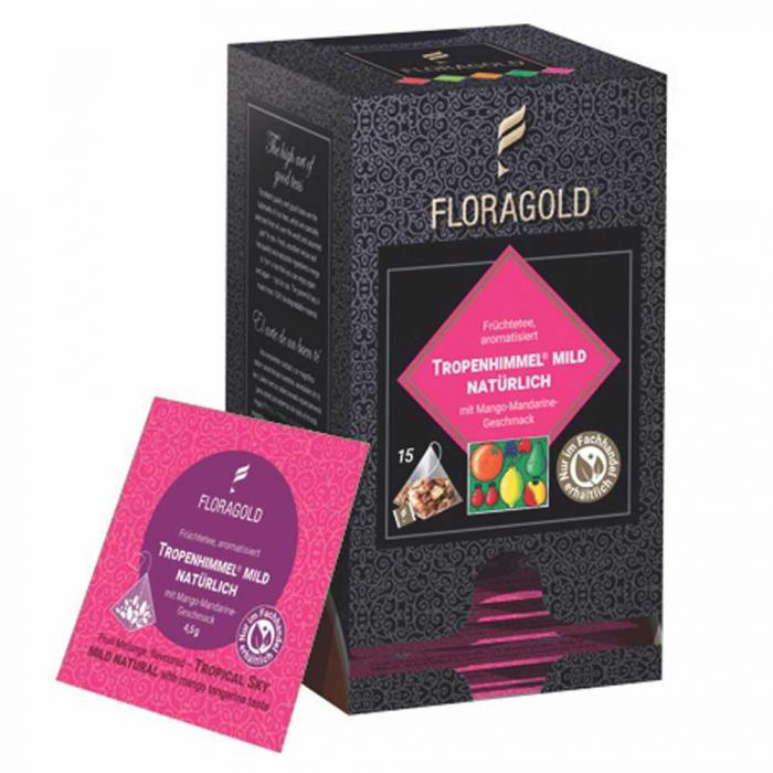 Ceai de Fructe Natural Tropical Sky Floragold, 15 piramide [0]