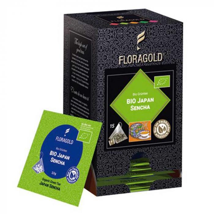 Ceai Verde Sencha Japonia BIO Floragold, 15 piramide [0]