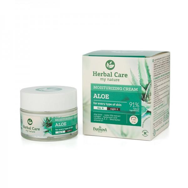 Crema de fata hidratanta cu Aloe - HERBAL CARE [0]