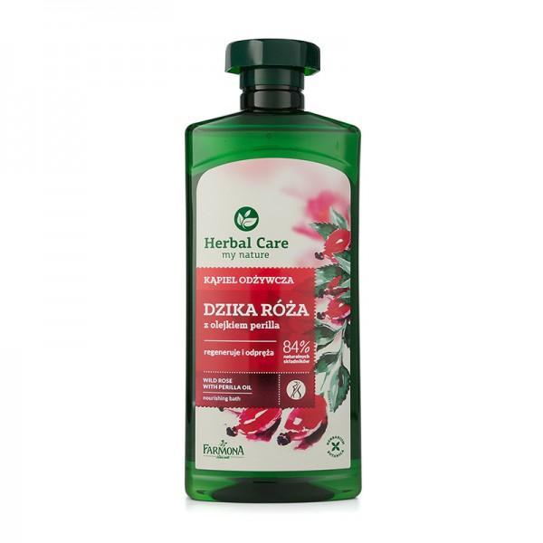 "Gel nutritiv de baie si dus ""Trandafir salbatic si Ulei de Perilla"" Herbal Care [0]"