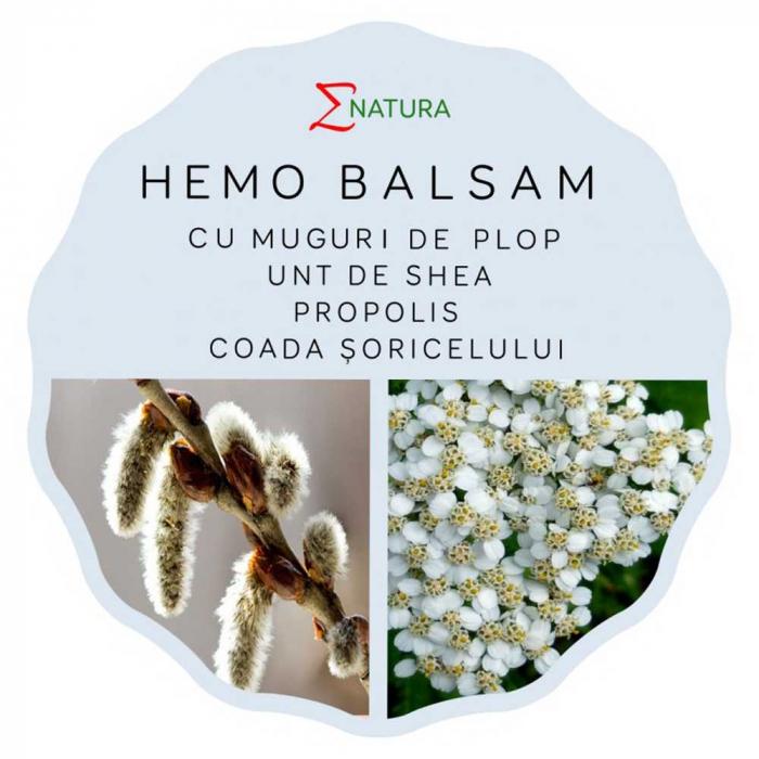 Hemo Balsam cu extract din muguri de plop si Unt de Shea, 50ml - ENATURA [0]