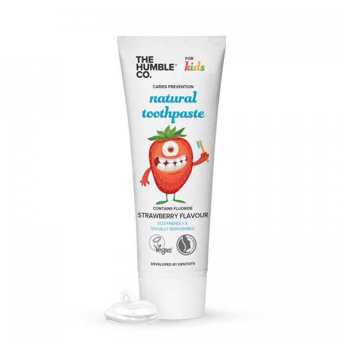 Pasta de dinti pentru copii naturala cu fluor - Capsuni, 75 ml, The Humble [0]