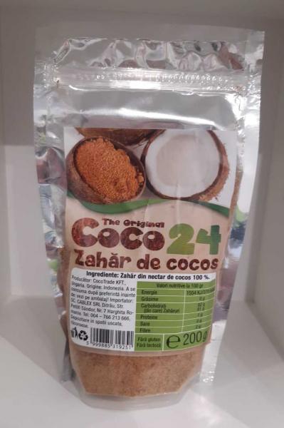 Zahar de cocos Fara Gluten, Fara Lactoza 200g, CoCo24 [0]
