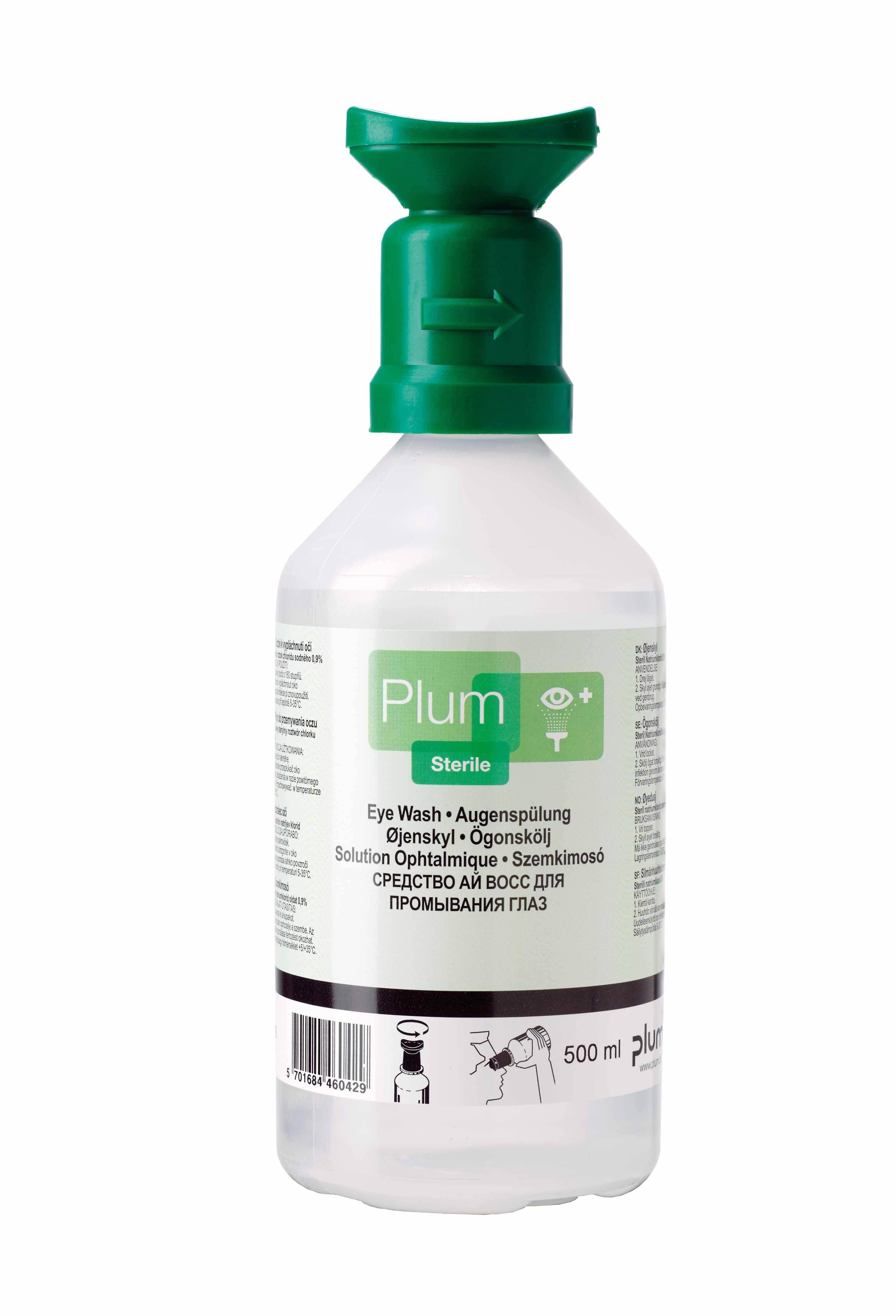 Solutie sterila de clatire a ochilor PLUM, 500 ml [0]