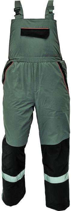 Pantaloni cu pieptar vatuiti de iarna Cerva EMERTON, 100% poliester,  180 gr/ mp 0