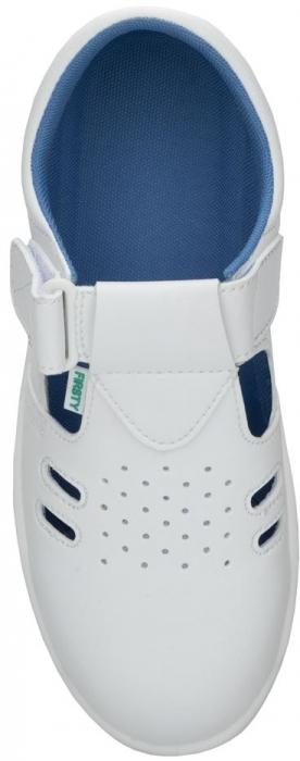 Sandale albe de protectie microfibra Ardon VOG S1, cu bombeu metalic 2