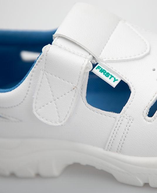 Sandale albe de protectie microfibra Ardon VOG S1, cu bombeu metalic 1