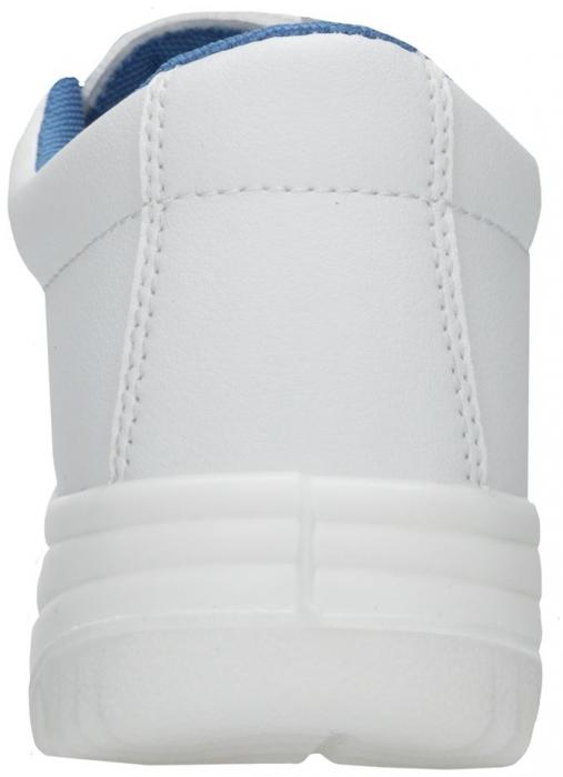 Pantofi albi de protectie microfibra Ardon FINN S2, cu bombeu metalic 3