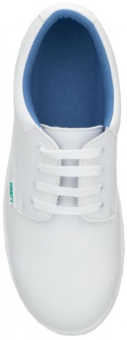 Pantofi albi de protectie microfibra Ardon FINN S2, cu bombeu metalic 2