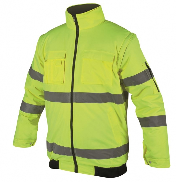 Jacheta reflectorizanta vatuita de iarna Ardon HOWARD 2IN1, 100% poliester acoperit cu poliuretan, cu maneci detasabile 1