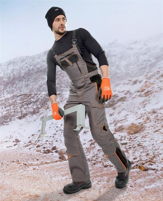 Pantaloni cu pieptar vatuiti de iarna Ardon VISION, tercot 60/40, 260 gr/mp 1