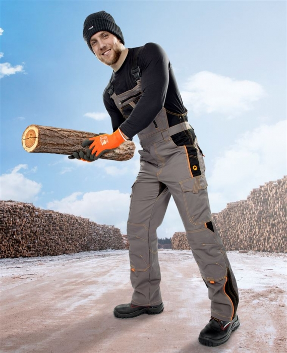 Pantaloni cu pieptar vatuiti de iarna Ardon VISION, tercot 60/40, 260 gr/mp 3