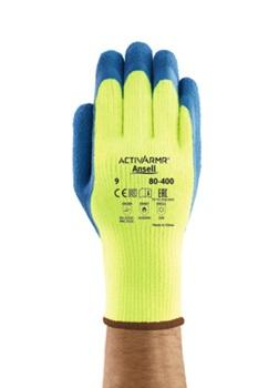 Manusi de protectie de iarna Ansell ACTIVARMR 80-400, impregnate in latex, 250°C 0