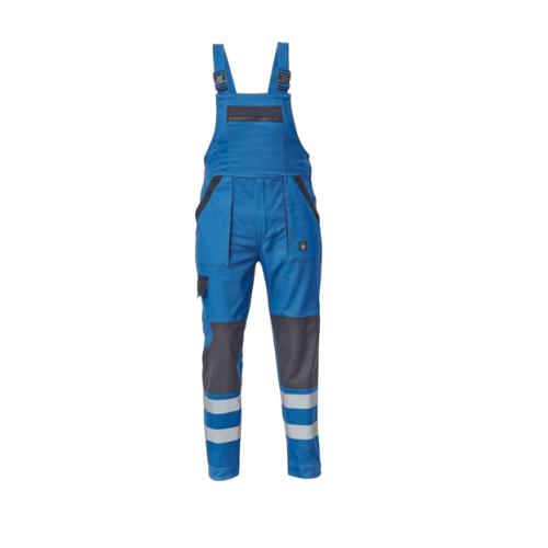Pantaloni cu pieptar cu benzi reflectorizante Cerva MAX REFLEX NEO, 100% bumbac, 240 gr/mp [0]
