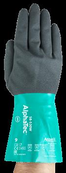 Manusi de protectie chimica Ansell ALPHATEC 58-530W, nitril [0]