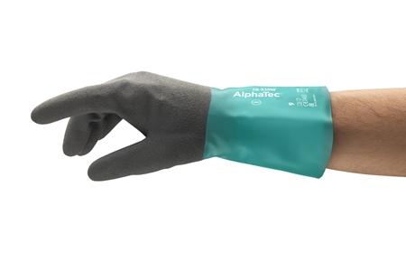 Manusi de protectie chimica Ansell ALPHATEC 58-530W, nitril [2]