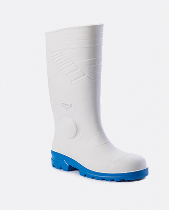 Cizme albe de protectie BleuAgro DYABLO S4, cu bombeu metalic 0