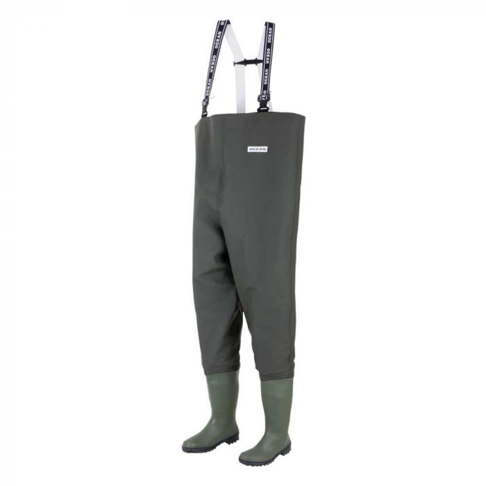 Cizme pantalon de protectie pescar Ocean DANUBIO S5, cu bombeu metalic 0