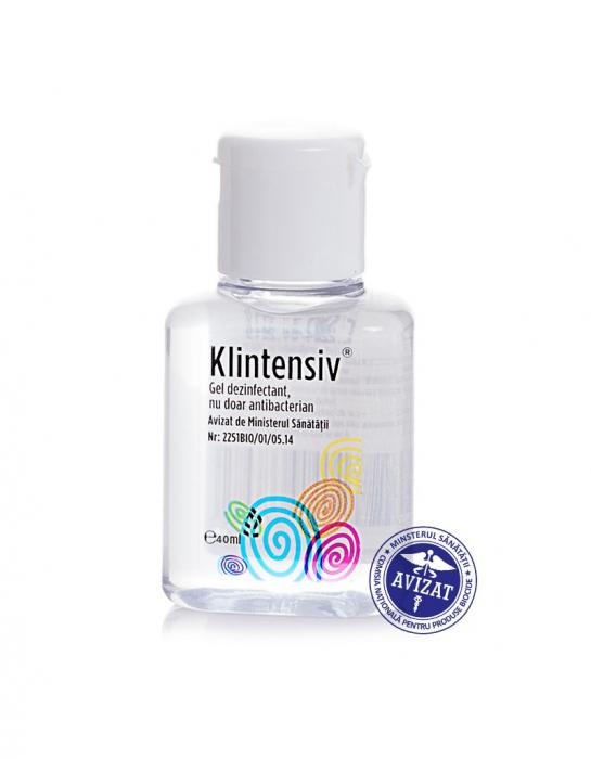 Gel dezinfectant pentru maini KLINTENSIV, 40ml, 85% etanol 0