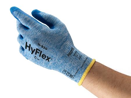 Manusi de protectie Ansell HYFLEX 11-920, impregnate in nitril 2