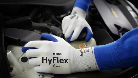 Manusi de protectie Ansell HYFLEX 11953, impregnate in nitril [2]