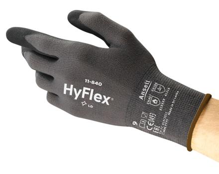 Manusi de protectie Ansell HYFLEX 11-840, impregnate in nitril 2