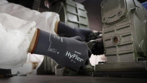 Manusi de protectie Ansell HYFLEX 11-840, impregnate in nitril 4