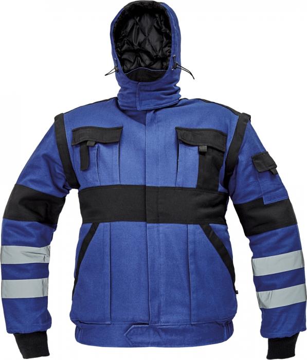 Jacheta de iarna cu benzi reflectorizante Cerva MAX REFLEX, 100% bumbac [0]