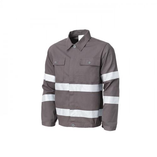 Jacheta de lucru cu benzi reflectorizante Renania WARNING, 260gr/mp [0]