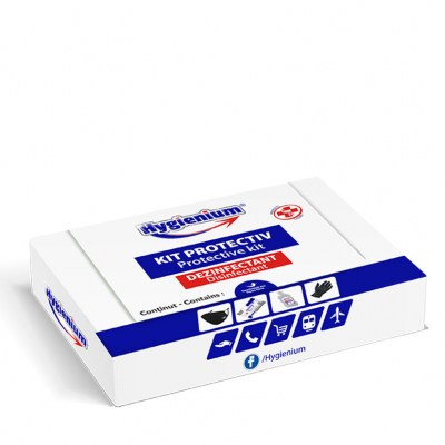 Kit protectiv HYGIENIUM, include manusi nitril 1