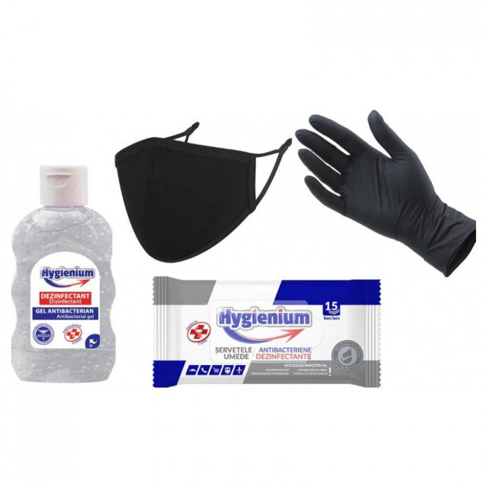 Kit protectiv HYGIENIUM, include manusi nitril 0