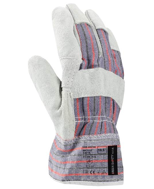 Manusi de protectie de iarna Ardon GINO WINTER, piele spalt bovina [0]